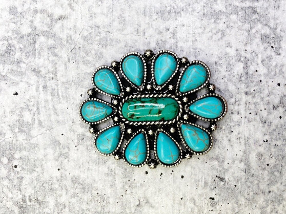 Pop Socket: Turquoise and Green Oval