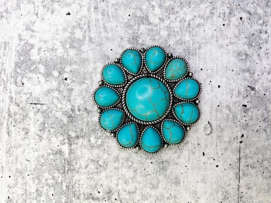 Pop Socket: Turquoise Round Concho
