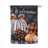 Elegant Pumpkins Suede Flag