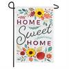 Garden Linen Flag Home Sweet Home