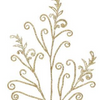 """Silver glittered Acanthus Scroll Branch 35"""""""