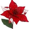 "Red Poinsettia Pick 9.5"""