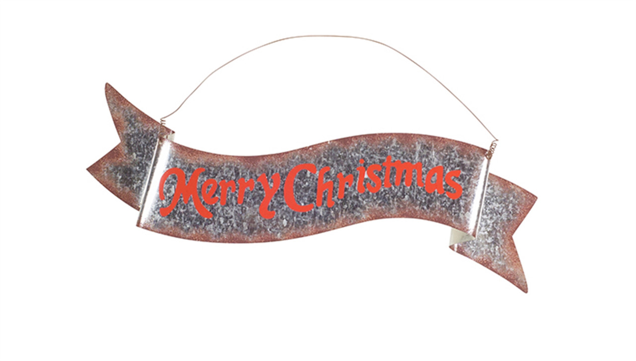 merry christmas banner metal mcclard s gifts merry christmas banner metal