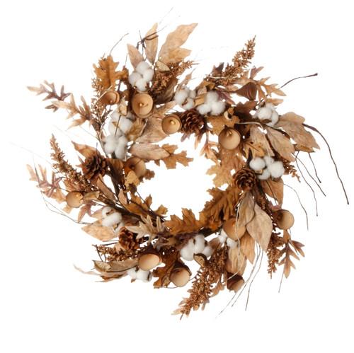 Cotton Leaf Wreath
