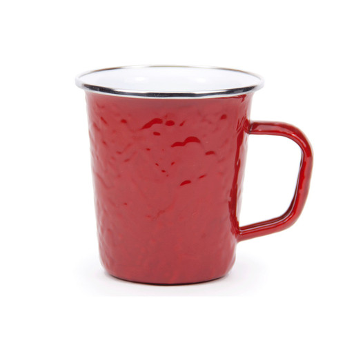 Mix and Match these pretty red mugs with our Golden Rabbit white mugs and plates for the perfect 4th of July, Christmas or Valentine's Day table.