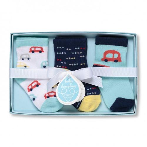 Beep,Beep Socks Gift Set (0-12 M)