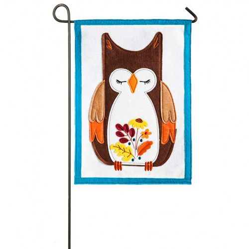 Autumn Owl Garden Flag