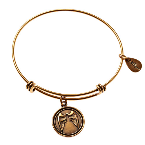 Gold Bangle Angel Wings - BR