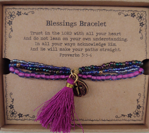 Super cute stretch to fit Blessings bracelet by Natural Life. Great gift!