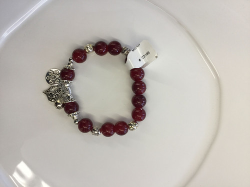 Raspberry Stax bracelet. Perfect alone or with other Stax bracelets.