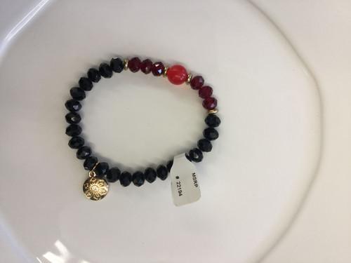 Black Cherry Berry Stax Bracelet