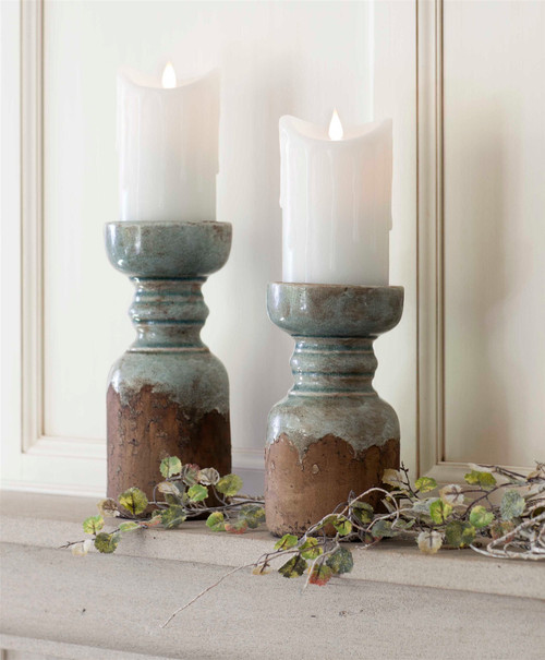 """Rustic Candle Holders - 9.75"""" H"""