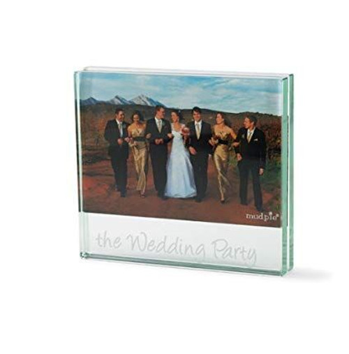 The Wedding Party Glass Frame Etched
