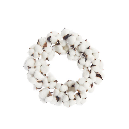 """Natural Cotton Wreath approx 6""""dia"""