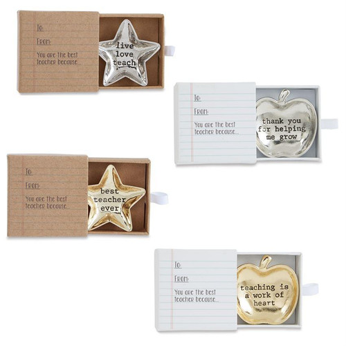 """This is for the star dish that says """"Live Love Teach"""". These mini dishes are the perfect for all the great teachers this year."""