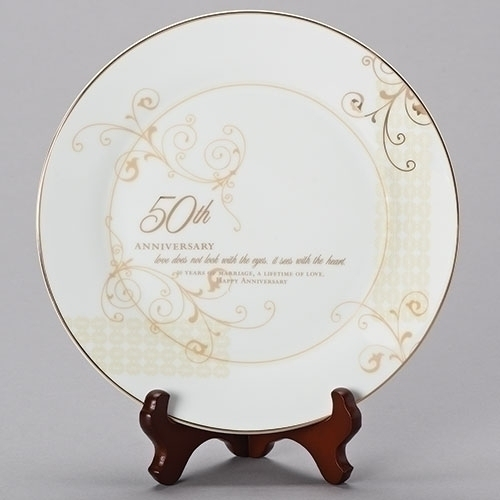 "9"" 50th Anniversary Plate 2/pc set"