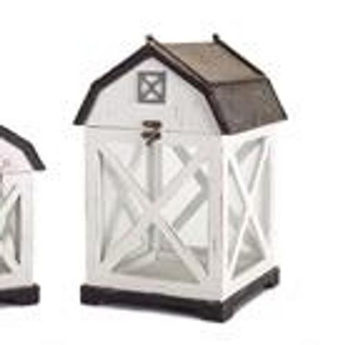 "14.5"" Wood/Metal Barn Lantern"