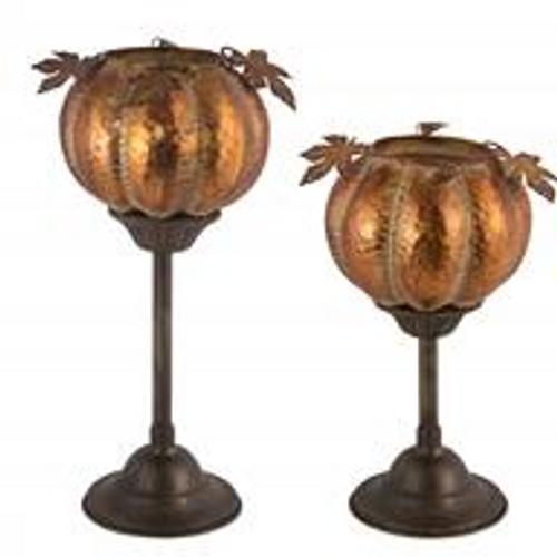 """Pumpkin Candleholder 15"""" H"""