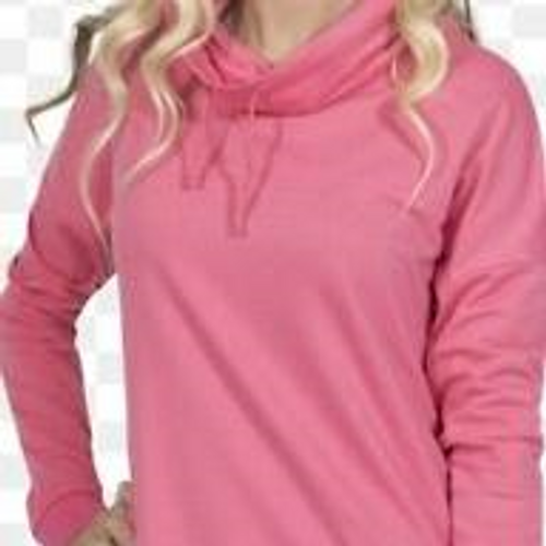 Pink Cowl Pullover Xlarge