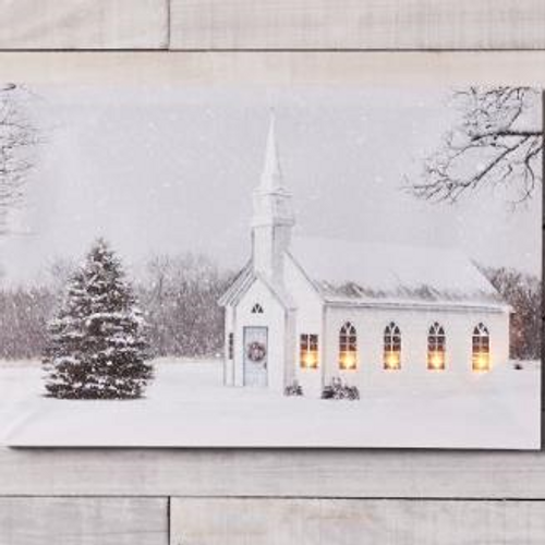 LED Church and Tree