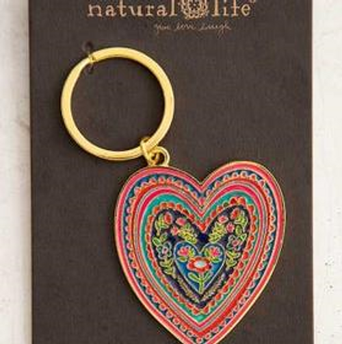 Enamel Heart Keychain