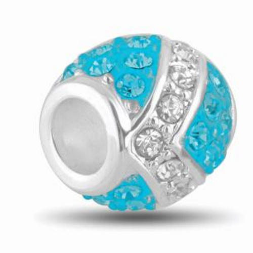 Aquamarine and Clear CZ DB51-25