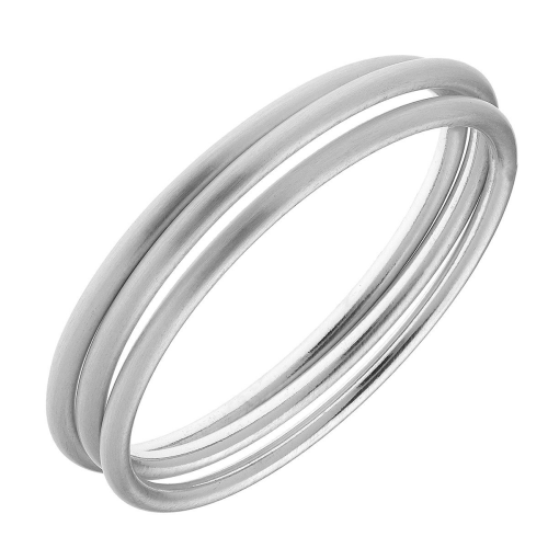 Isla Bangles in Satin Finished Silver