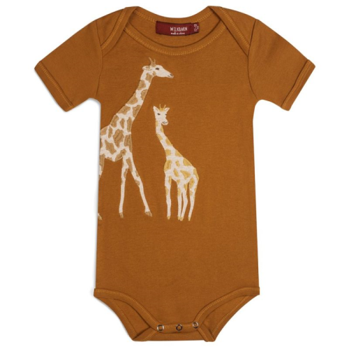 Applique One Piece Giraffe 6-12months