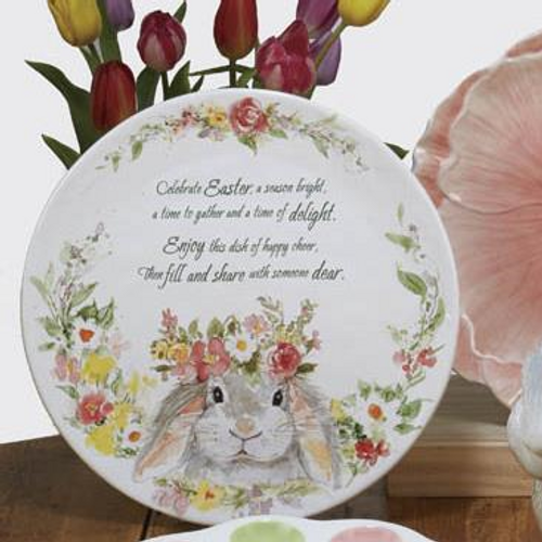 Sweet Bunny Round Pass Along Plate
