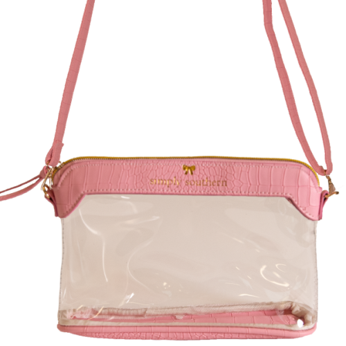 Clear Leather Satchel by Simply Southern
