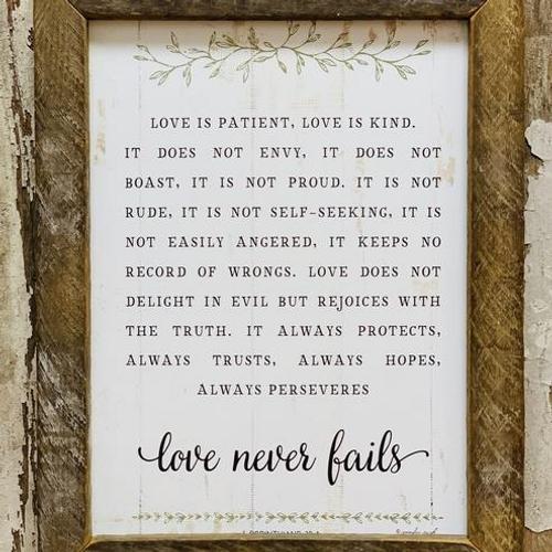 Love is Patient Love Never Fails