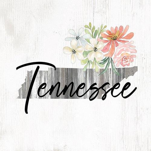 Floral Tennessee Wall Plaque
