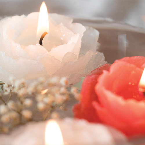 Rose Floating Votives