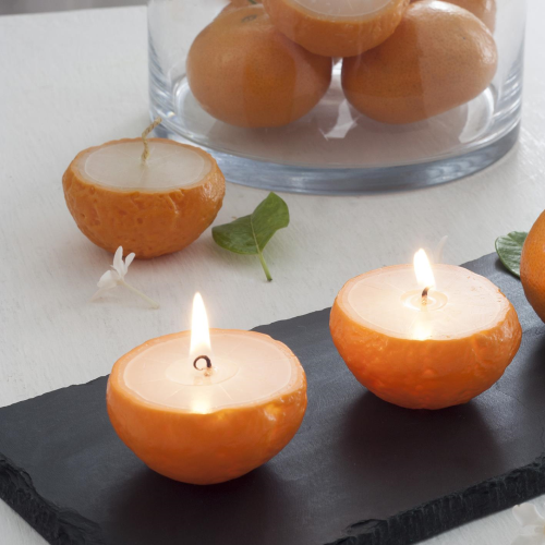 Scented Fruit Votive 3x2x1 Tangerine