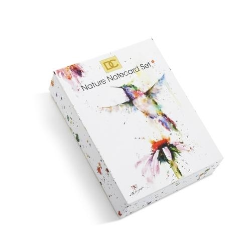 Nature Notecard Set  Hummingbird Butterfly