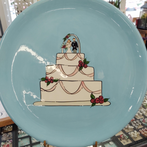 "Beautiful 16"" Wedding Plate Wedding Cake"