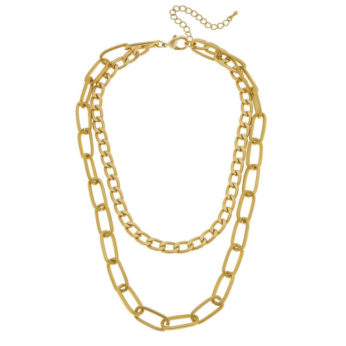 Two Layer Chain Link Necklace