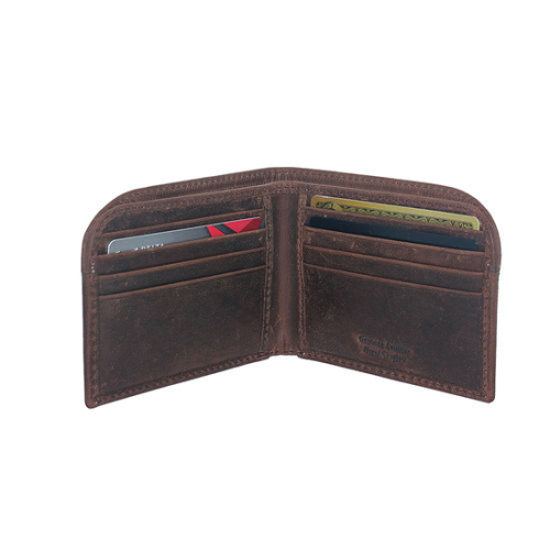 Hunter Leather Front Pkt Wallet Brown