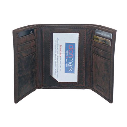Hunter Leather Tri-Fold Wallet