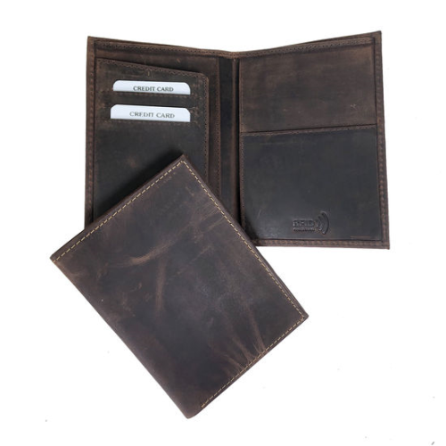 Hunter Leather RFID Secure Passport Wallet