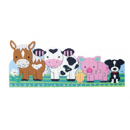 Farm Animals Alphabet Puzzle