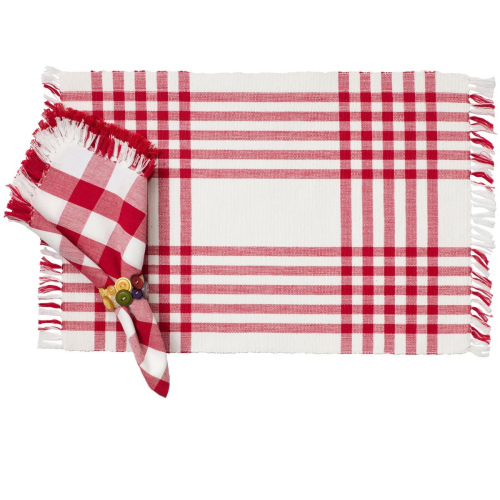 Happy Picnic Gingham-Red Placemat