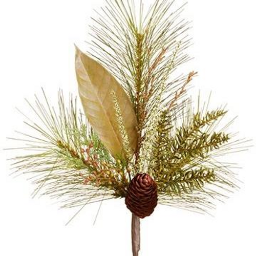 """17"""" Pine Cone and Leaf Spray"""