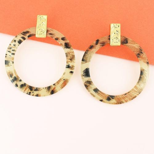 Gold Leo Hoop Earrings