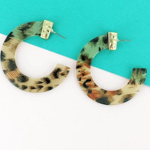 Fabulous Leo Open Hoop Earrings