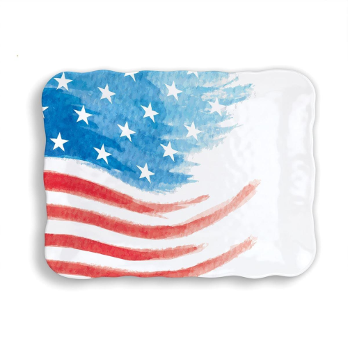 Red, White and Blue Melamine Cookie Tray