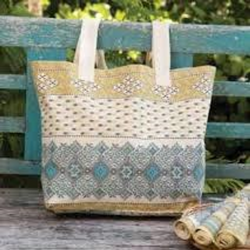 French Lotus Mkt Bag-Citrine