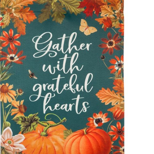 Gather with Grateful Hearts Banner
