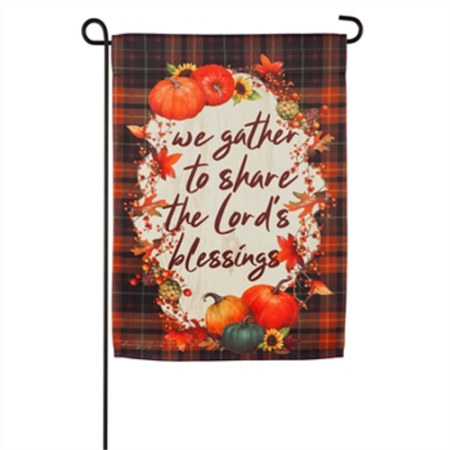 Harvest Blessing Garden Suede Flag