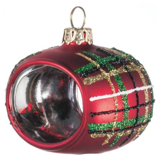Plaid Napkin Ring Ornament Set of 4